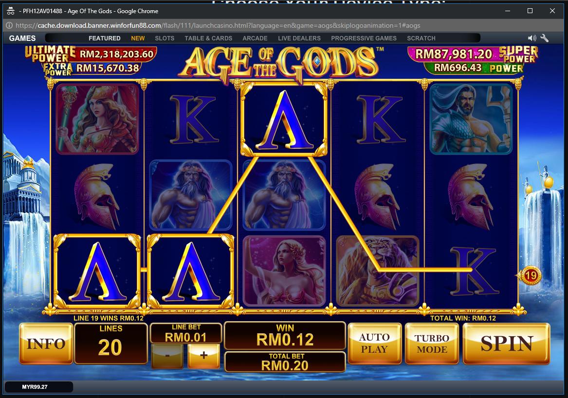 Age of the Gods: Furious 4 Slot Machine